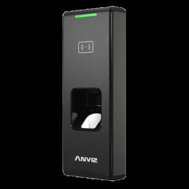 C2SLIM-BT-WIFI-MIFARE: ANVIZ autonomous biometric reader - Fingerprints and MIFARE - 3,000 recordings / 50,000 records - TCP / IP, WiFi, Bluetooth, RS485, miniUSB, Wiegand 26 - Integrated controller - IP65