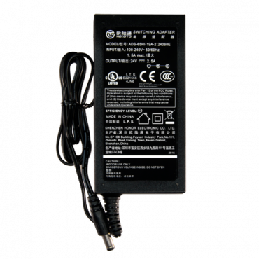 DC2425: Electronic power supply - 24 V / 2500 mA - Reduced dimensions - 110 (H) x 55 (W) x 30 (D) mm - 220 g - Stabilised