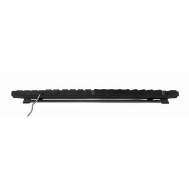 KB-UM-104: Multimedia keyboard USB, US layout, black
