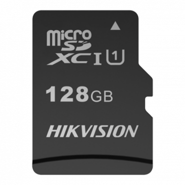 HS-TF-M1STD-128G: Hikvision Memory Card - TLC Technology - Capacity 128 GB - Class 10 U1 V30 - To 3000 writing cycles - Suitable for video surveillance devices