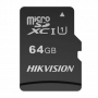 HS-TF-M1STD-64G: Hikvision Memory Card - TLC Technology - Capacity 64 GB - Class 10 U1 V30 - To 3000 writing cycles - Suitable for video surveillance devices