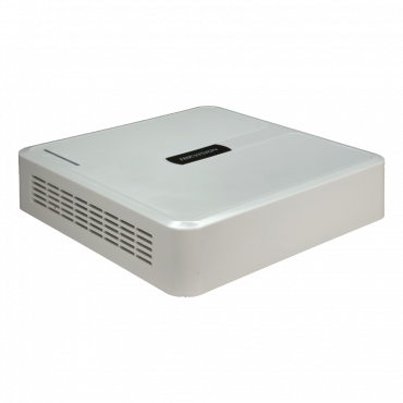 HWD-5104S: 5n1 Hikvision recorder - 4 CH HDTVI / HDCVI / AHD / CVBS / 1 IP - 1080p Lite/720p (1~25FPS) - Full HD HDMI and VGA Output - 1 CH audio | Audio over coaxial cable - Space for 1 HDD