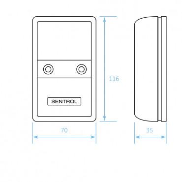 5501-M: Sentrol moisture sensor control unit type 5501-M, max. NC alarm contact