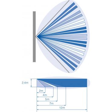 DD1012PI: 12 m / 40 ft Dual Technology motion sensor, 9 curtains,  pet immune