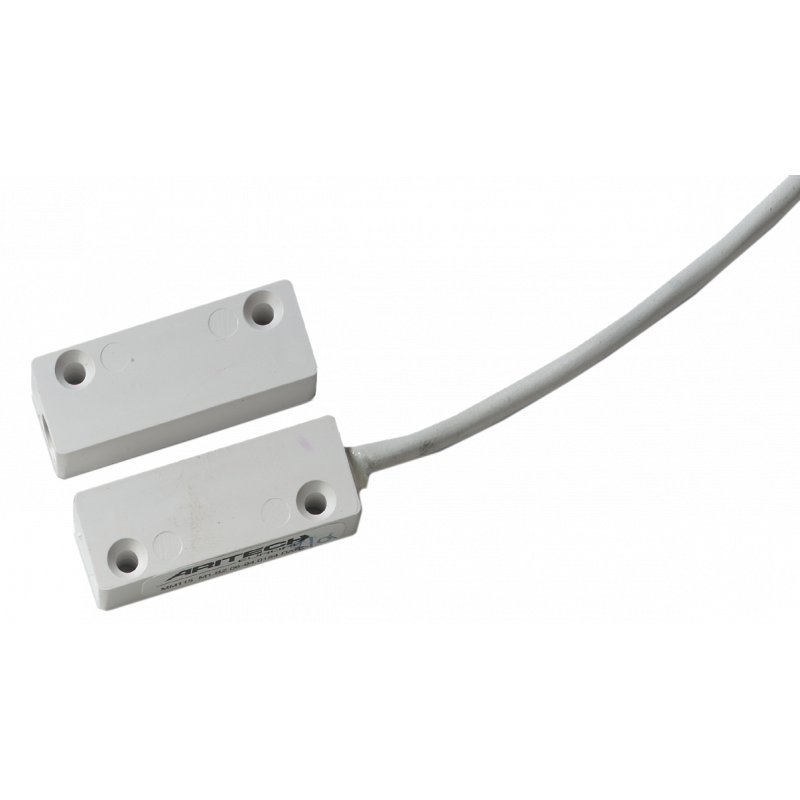 MM115: Surface contact with tamper loop and 1 m cable, color white