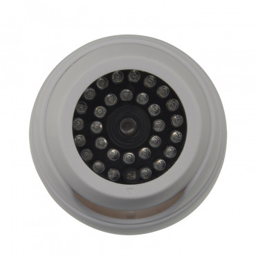 CS908: NIVIAN Simulated (dummy) camera - IR Dome - Plastic casing - 30 functional red LED's - Design valid for outdoor - Power supply 2 AA batteries