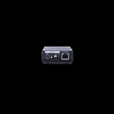 IP02EP: IP & Power over Coaxial Extender 500M (POC) - Verlengt het IP-signaal en de voeding via een coaxkabel. - Levert DC5V- of DC12V-voeding voor een extern IP-apparaat - Signaaluitbreiding tot 500M - Ondersteuning 10/100BASE-T