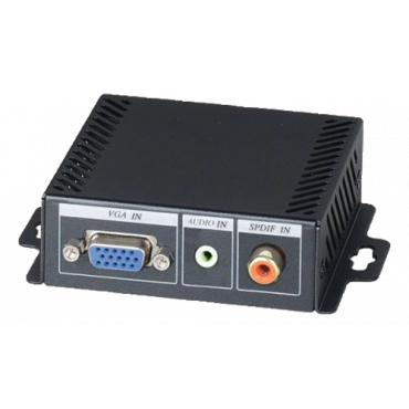 VH01E: Economic VGA to HDMI Converter - Converts VGA & audio to HDMI signal - Resolution up to 1920 x 1200@60Hz - Supports digital/ analog audio input - Supports DVI output mode
