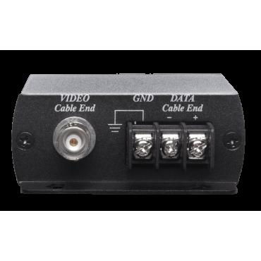 SP009T: UTP HD-TVI/AHD/HDCVI/CVBS Surge Protector - Supports HD-TVI, HDCVI, AHD signals video formats - Built-in a terminal blocks at both ends - Response time less than 1 ns