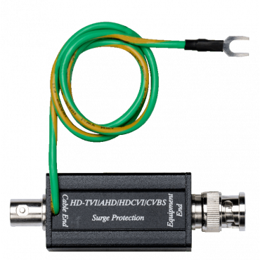 SP009: HD-TVI/AHD/HDCVI/CVBS Video Surge Protector - Resolution up to 4K (8MP) - Built-in a BNC connectors at both ends - Response time less than 1 ns