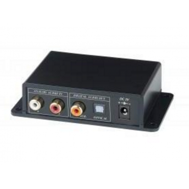 AC01: Analog/Digital Bi-directional Audio Converter - Supports digital and analog audio bi-directional conversion - Built-in RCA, optical, and coaxial audio interfaces