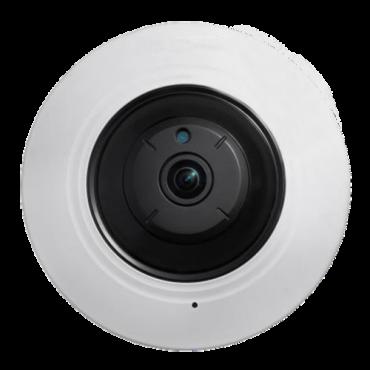 "SF-IPDM360W-5: 5 MP Safire IP Camera - 1/2.5"" Progressive CMOS - Compression H.265+/H.265/H.264+/H.264/MJPEG - 1.05mm Fisheye lens   WDR - IR LEDs Range 8 m - WEB, DSS/PSS, Smartphone and NVR"