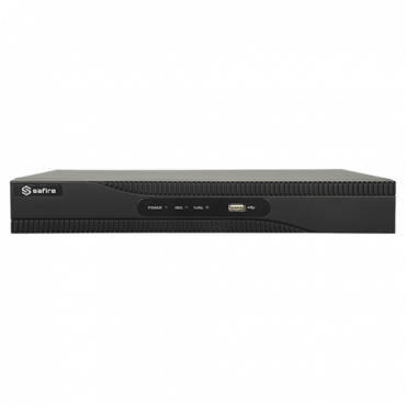 SF-NVR6108-4KE-8P: NVR recorder for IP cameras - 8 CH video / H.265 + compression - 8 PoE channels - Maximum resolution 8Mpx - 80 Mbps bandwidth - HDMI 4K and VGA output - Supports 1 hard disk