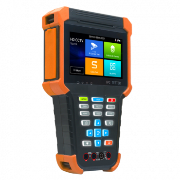 """SF-TESTER4-5N1-4K: Multifunctional CCTV Tester - Supports HDTVI, HDCVI, AHD, CVBS and IP cameras - Tester resolution up to 4K - Colour LCD display 4"""" - 4000mA Built-in Battery - Easy to use"""