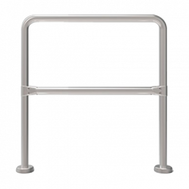 TS-HANDRAIL-50: Stainless steel fence - Compatible with turnstiles - Passage restriction - Dimensions 980 mm (h) 500 mm (w)