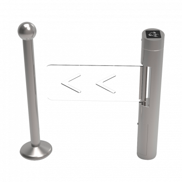 TS-SB504: Two-way access turnstile - Individual motorized aisle - Times, Alarms, Opening Modes - Step dimensions 900 mm - Made of stainless steel SUS304 - Compatible with third party systems