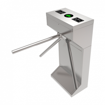 TS-TR601: Two-way access turnstile - 3 Semi-automatic rotary arms - Times, Alarms, Opening Modes - Step dimensions 550 mm - Stainless steel SUS304 of 1.5 mm - Compatible with third party systems