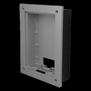VTM114: X-Security - Built-in video intercom box Villa XS-V2202E-(X) - Aluminium alloy trim included - Dimensions:162,9mm (H) x 128,9mm (W) x 35mm (D) - Versatile connection, cable entrances on all sides