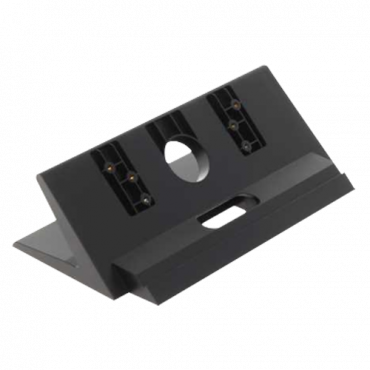 VTM123: X-Security desktop mounting bracket - Video intercom specific - Compatible with XS-V5221M-IP - Cable routes - 190mm (H) x 100mm (W) x 54mm (D) - Made of plastic with metal base