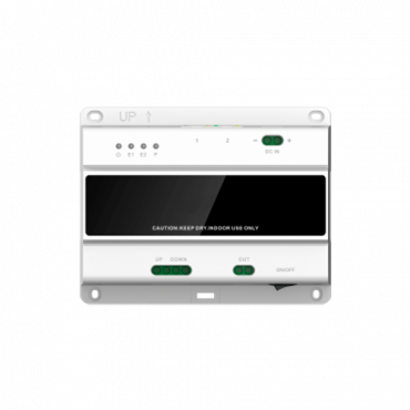 XS-V2003B-2IP: Switch 2-hilos for cascade - 3 groups of 2 wires - 10 cascade levels - Connection of 20 monitors and 2 boards - Surface or DIN rail mounting - TCP/IP Connection