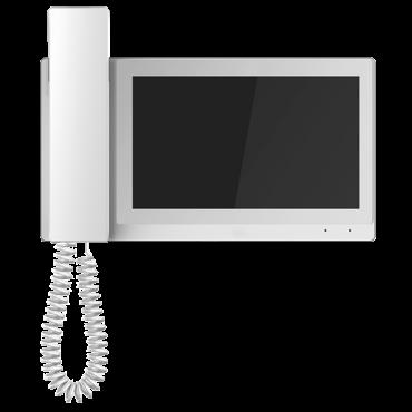 "XS-V5221M-IP: Video Intercom Monitor with telephone - 7"" TFT Screen - Bidirectional audio - TCP/IP and PoE - MicroSD slot max 32 Gb - Surface mounting"