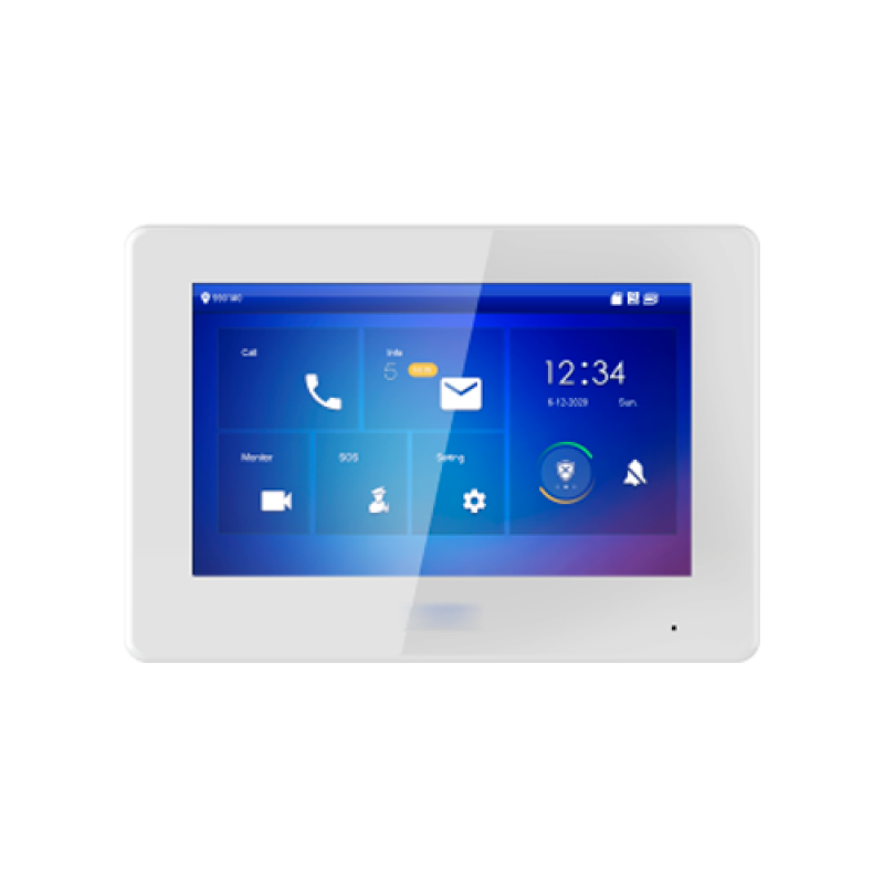 """XS-V5422M-2POE: Video door entry monitor - 7"""" TFT screen - Two-way audio and calls between devices - TCP / IP and 2 wires - MicroSD slot 