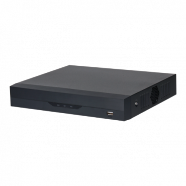 XS-NVR3104-4K1P-1FACE: X-Security NVR for IP cameras - 4 CH IP video and 4 PoE ports - Maximum recording resolution 12 Mpx - 1 CH facial recognition - 2 CH human and vehicle recognition - Compression H.265+