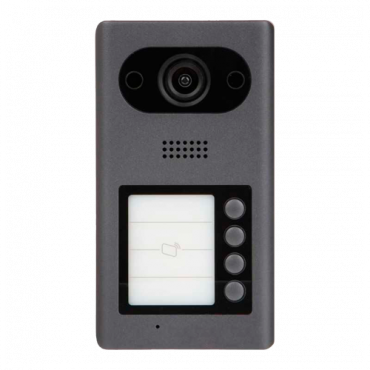 XS-3211E-MB4-V3: Video intercom IP - 2Mpx wide angle camera - Two-way audio | 4 call buttons - Mobile App for remote monitoring - Stainless steel, vandal proof - Surface mounting
