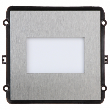 XS-V2000E-MEP: Extension module - Compatible with XS-V2000E-MIP - Personalization label - LED illumination - Stainless steel, vandal proof - Modular