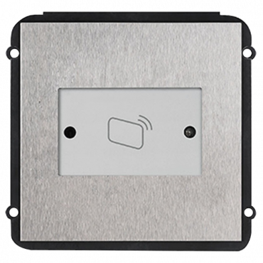 XS-V2000E-MR: Extension module - Compatible with VTO2000A-C - Mifare Card Reader 13.56MHz - Ergonomic design - Stainless steel, vandal proof - Modular