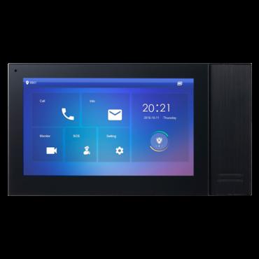 "XS-V2421M-IP-POE-B: Video Intercom Monitor - 7"" TFT Screen - Bidirectional audio - TCP / IP | PoE - MicroSD slot max 32 Gb - Surface mounting"