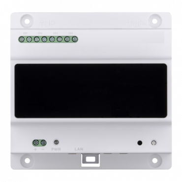 XS-V3000NC-2: Converter - 2 wires to IP - 4 groups of 2 wires - TCP / IP with RJ45 - For powering 2 wire devices - Surface or DIN rail mounting