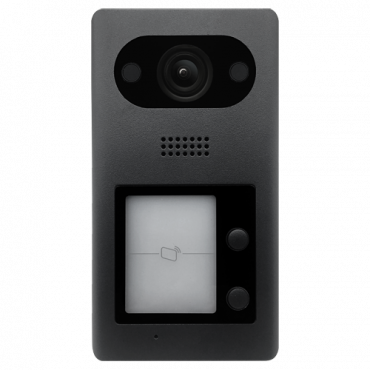 XS-V3211E: Video intercom IP - 2Mpx wide angle camera - Two-way audio | Double button - Mobile App for remote monitoring - Stainless steel, vandal proof - Surface mounting