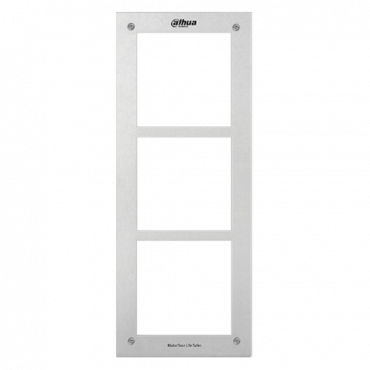 XS-VF003E: Front panel - Video intercom specific - Compatible with XS-V2000E-M(X) modules - triple module - 369mm (H) x 145mm (W) x 11mm (D) - Stainless steel