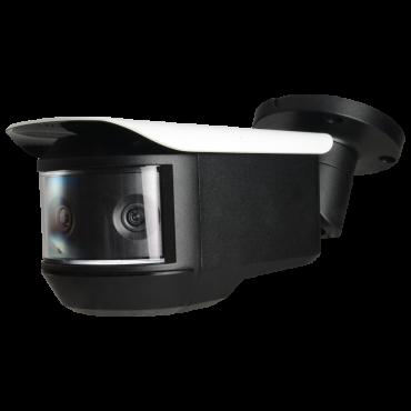 "CAM-PFW3601-A180: Bullet HDCVI Panoramic Camera - 3 x 1/2.8"" Sony© Starlight CMOS - Resolution 4K (8Mpx) - 180º view merging 3 cameras - IR LEDs Range 20 m | Audio | Alarms"