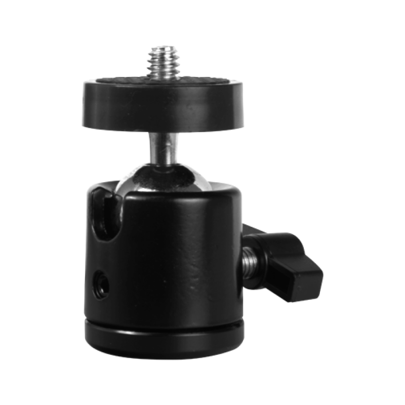 "TRIPOD-BALLHEAD-14: Tripod ball head - Suitable for cameras with standard 1/4"" - Rotating ball joint 360º - Heavy-duty support"