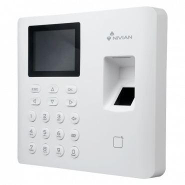 NV-TIMECONTROL-WIFI: Time & Attendance control - Fingerprint, Mifare Card and PIN - 3.000 recordings / 100.000 records - TCP/IP, USB and WiFi - Time & Attendance Modes - Nivian Control Center AC Software