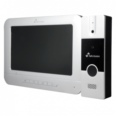 NV-VINTERCOM-ANALOG: Video-intercom kit - Analogue technology - Includes panel and monitor - Connection for 4 wires - Plug And Play Installation - Surface mounting