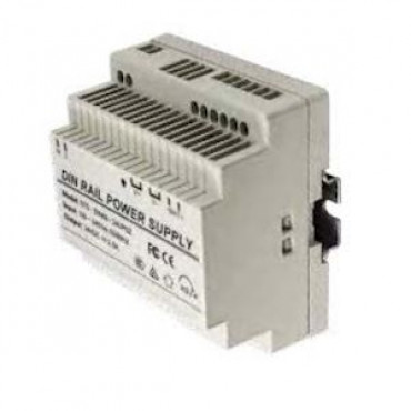 1CCR12-3UPS: 12V 3A DIN rail power supply with battery charger input