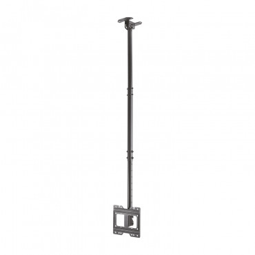 """CT43TSE-053: VESA monitor bracket - For roof or inclined surfaces - Base/stand tilt and rotation - Extensible from 720 mm to 1590 mm - Maximum load 50 Kg - Approximately 23""""~ 43"""" screens."""