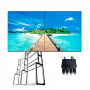 """KIT-VIDEOWALL55-2X2-FLOOR: Complete video wall kit - Monitors LED 55"""" - Support and HDMI splitter included - HDMI, DVI, VGA, AV, RS232 and RJ45 - Special for floor installation - 3.5mm total margin"""