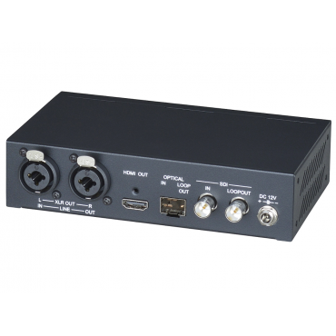SDI01A-12G: 12G-SDI to HDMI 2.0 Converter with Audio Embedded/Extractor - Resolution up to 4K@60Hz 4:4:4 HDMI and 12G SDI - Built-in fiber module for long distance transmission - Built-in SDI loop out.....