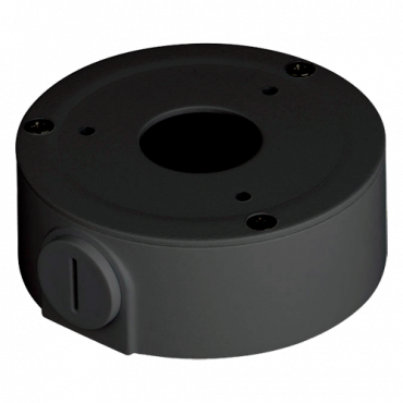 PFA134 : X-Security, Connections Box, For dome cameras, Suitable for outdoor use, Wall or ceiling installation, Electrogalvanized steel and aluminum, color Black