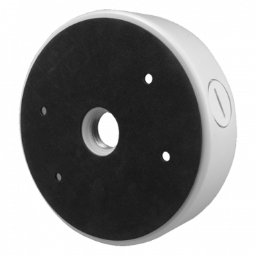 PFA730: X-Security - Junction box for positioning camera - Aluminium - 60 mm (H) x 140 mm (base diameter) - White colour - Mobile Side Mount Bracket - For dome cameras