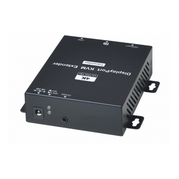 DP02U: 4K DisplayPort KVM with USB CAT5e Extender 150M - Resolution up to 4K@30Hz 4:4:4 - Signal extension up to 150M over CAT5e or greater - Built-in 4 ports USB at RX unit - Supports bi-directional RS232...