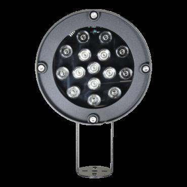 IR40-180: Infrared spotlight range 180m - LED lighting - 850nm, 40° opening - 6 leds Ø10 - It includes photocontrol cell - 170 (D) x 85 (Ø) mm