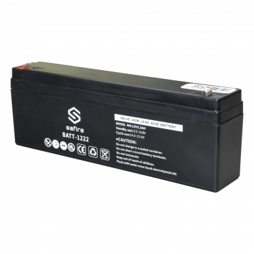 BATT-1222: Rechargeable battery - AGM lead acid technology - Voltage 12 V - Capacity 2.3 Ah - 103 x 71 x 47 mm / 820 g - For backup or direct use