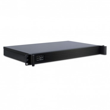 """IPC-1U-K-126L: 19"""" Server Case - black - 1U - form factor Mini ITX - Dimensions (h/w/d) 45 x 485 x 285mm"""