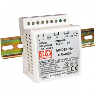 DR-45-24: Power supply for DIN rail installation