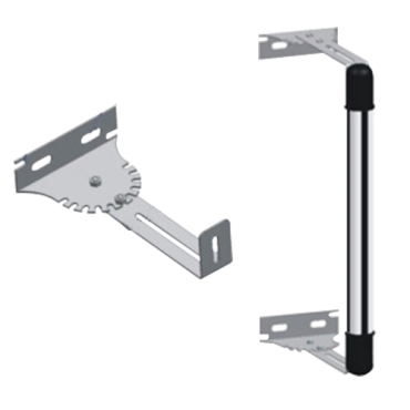 2XAN-6Z: Barrier bracket - Adjustable length and angle - Stainless steel - Compatible with ABI30 and ABI100